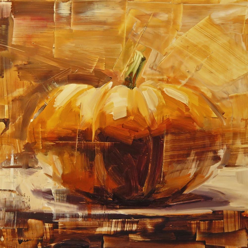 """""""Pumpkin 2"""" original fine art by Annie Salness"""