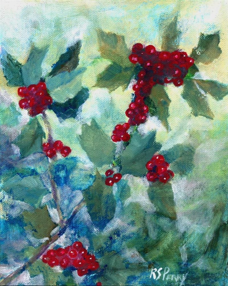 """""""Holly"""" original fine art by R. S. Perry"""