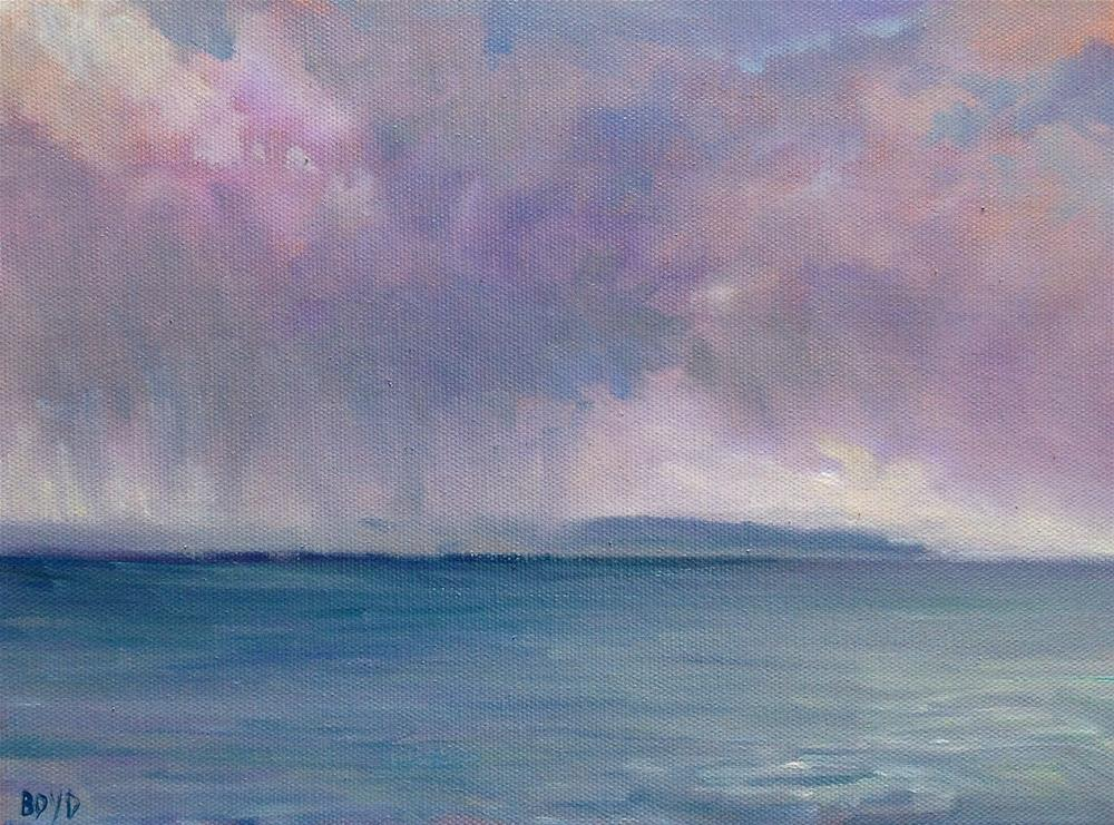 """Rain Is Coming"" original fine art by Cathy Boyd"