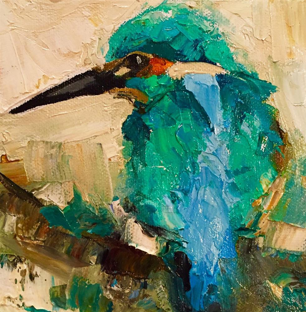 """Kingfisher"" original fine art by Marcia Hodges"