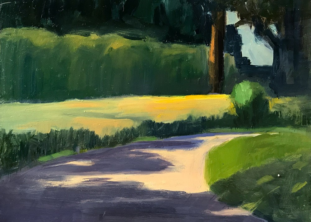 """""""Park View"""" original fine art by Donna Dumont"""