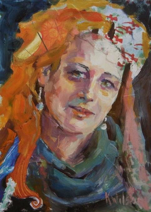 """""""Confetti Betti"""" original fine art by Katie Wilson"""