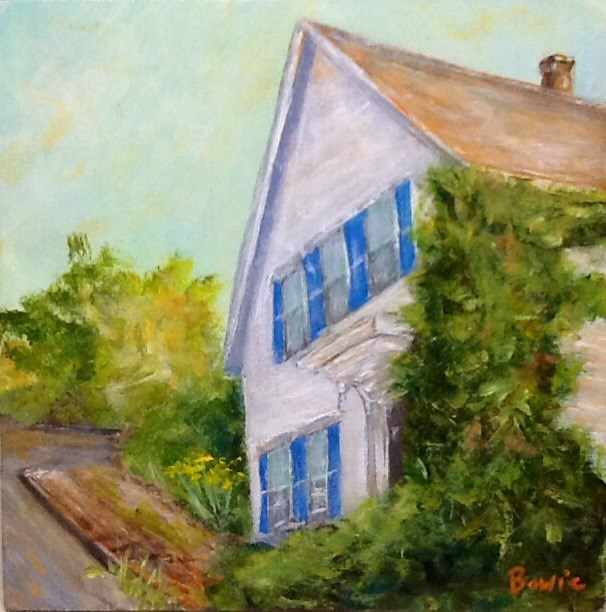 """West End House"" original fine art by Maureen Bowie"