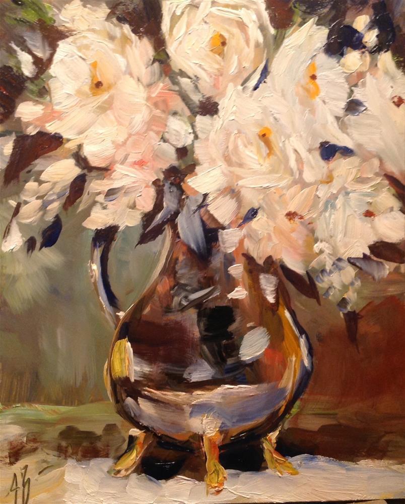 """""""Light Spring Floral"""" original fine art by Annette Balesteri"""