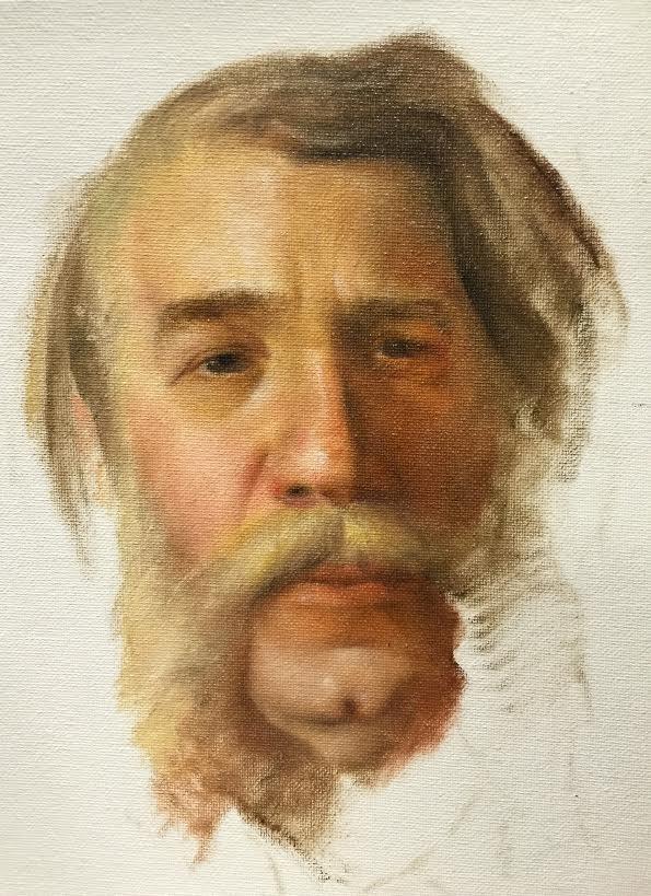 """""""Ivan Kramskoi Study"""" original fine art by Jonathan Aller"""