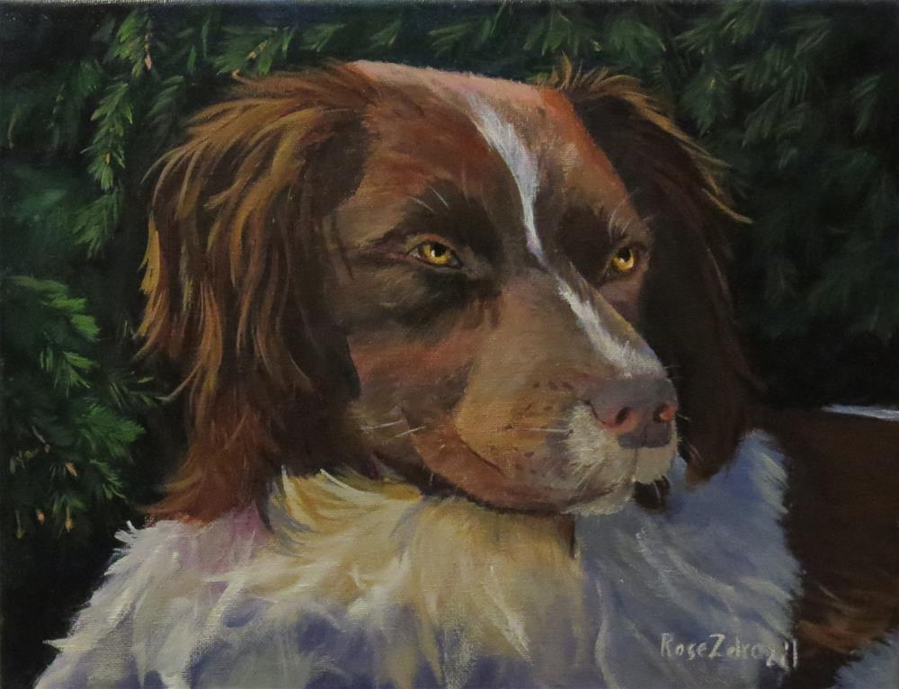 """Man's Best Friend"" original fine art by Rose Zdrazil"