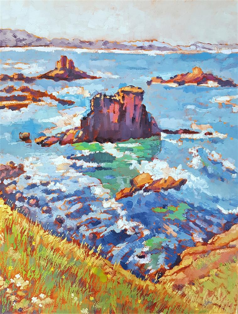 """""""""""Yaquina Head Beach View""""  - Beachview Series"""" original fine art by Bhavna Misra"""