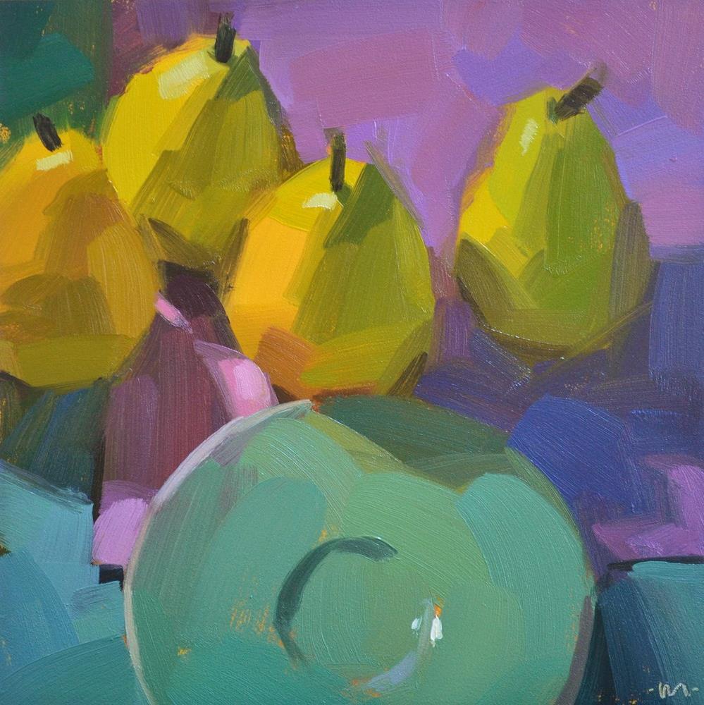 """""""Pear Lunch"""" original fine art by Carol Marine"""