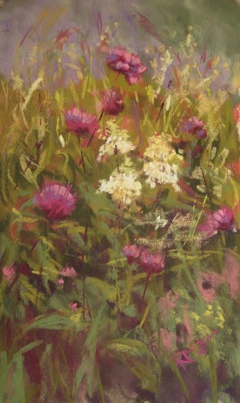 """Vassor Wildflowers"" original fine art by Ruth Mann"
