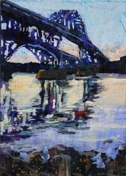 """Grand Island Bridge"" original fine art by Chris Breier"
