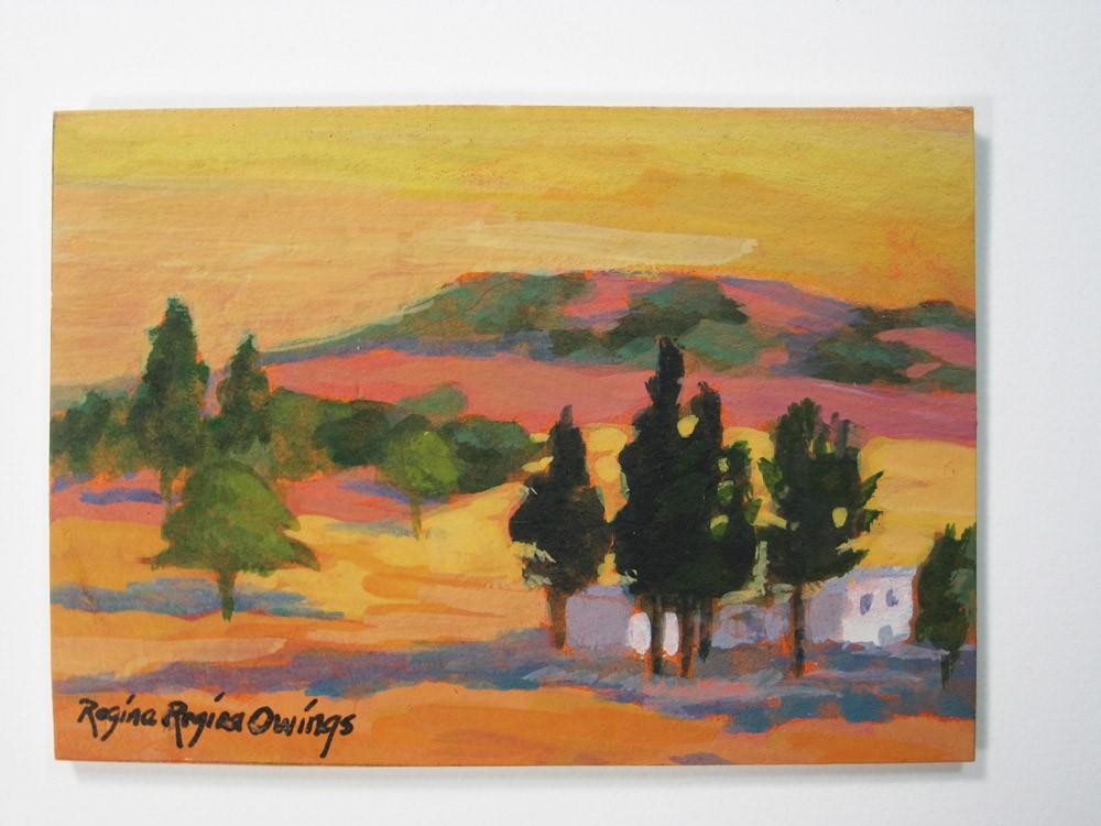 """""""Foothill Homestead #1"""" original fine art by Rhett Regina Owings"""