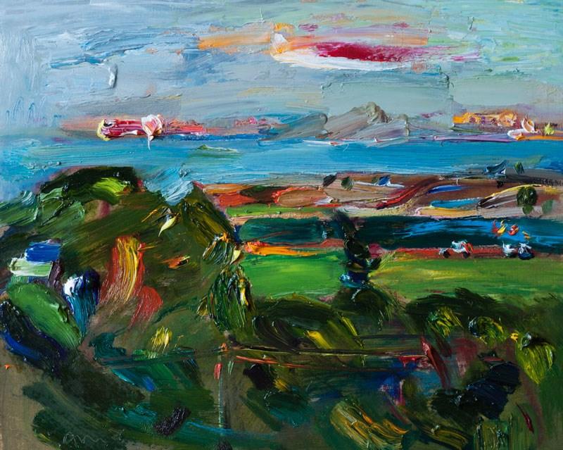 """Windy Winter Landscape"" original fine art by Anna Fine Art"