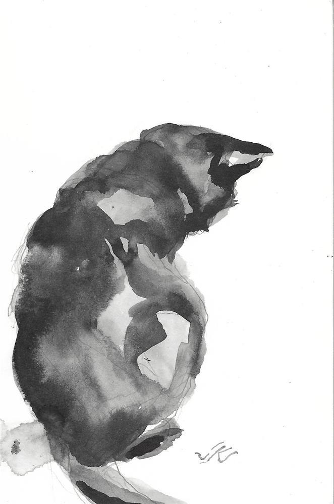 """Daily Cat 191"" original fine art by Jean Krueger"