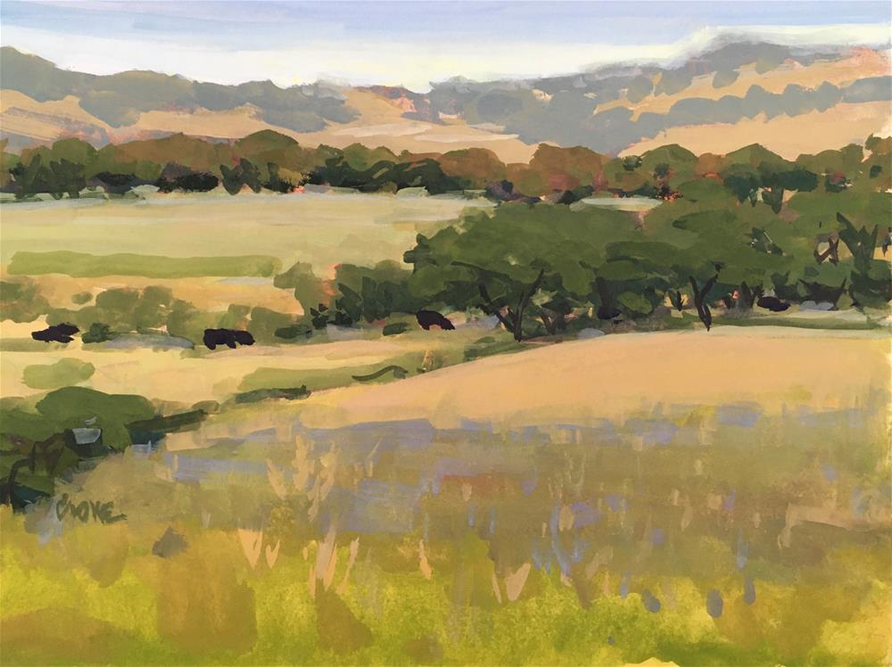 """In the Stillness"" original fine art by Judy Crowe"