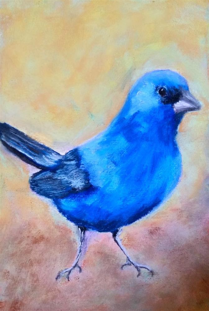 """True Indigo Blue"" original fine art by Anna Lisa Leal"