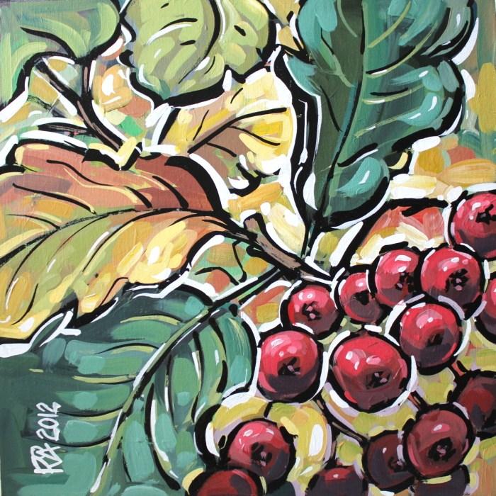 """Autumn berries 3"" original fine art by Roger Akesson"