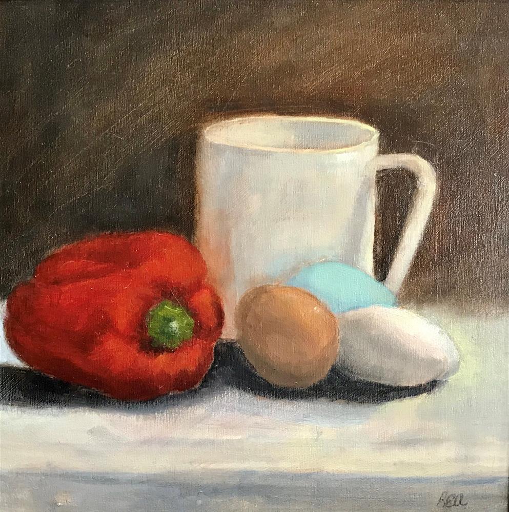 """Let's make an Omelette"" original fine art by Betty Argiros"