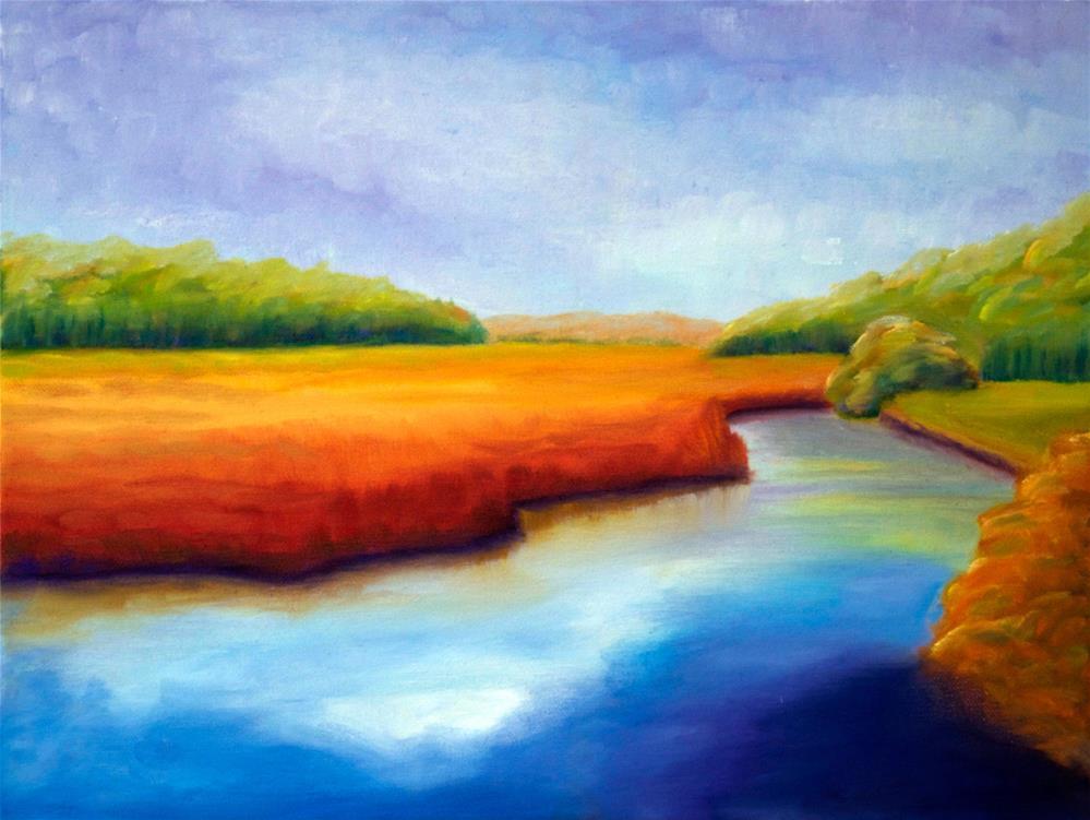 """River Marsh"" original fine art by Susan Bertocci"