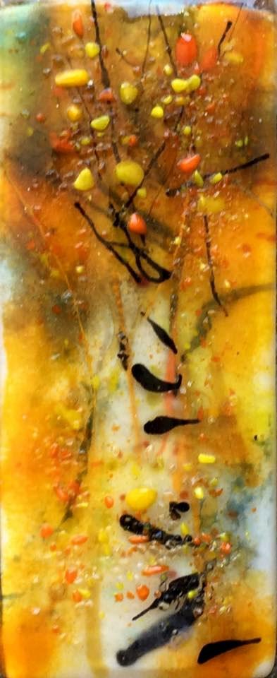 """""""Fall Fire 2"""" original fine art by Kristen Dukat"""