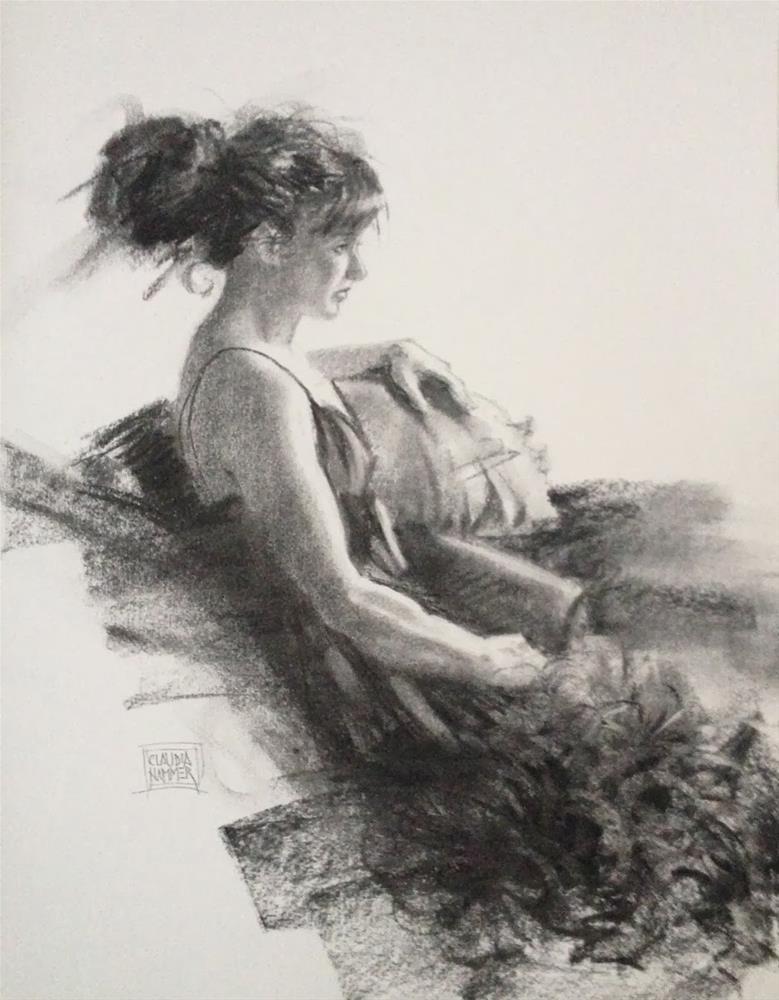 """The Emu Dress 14x16  pastel on paper"" original fine art by Claudia Hammer"