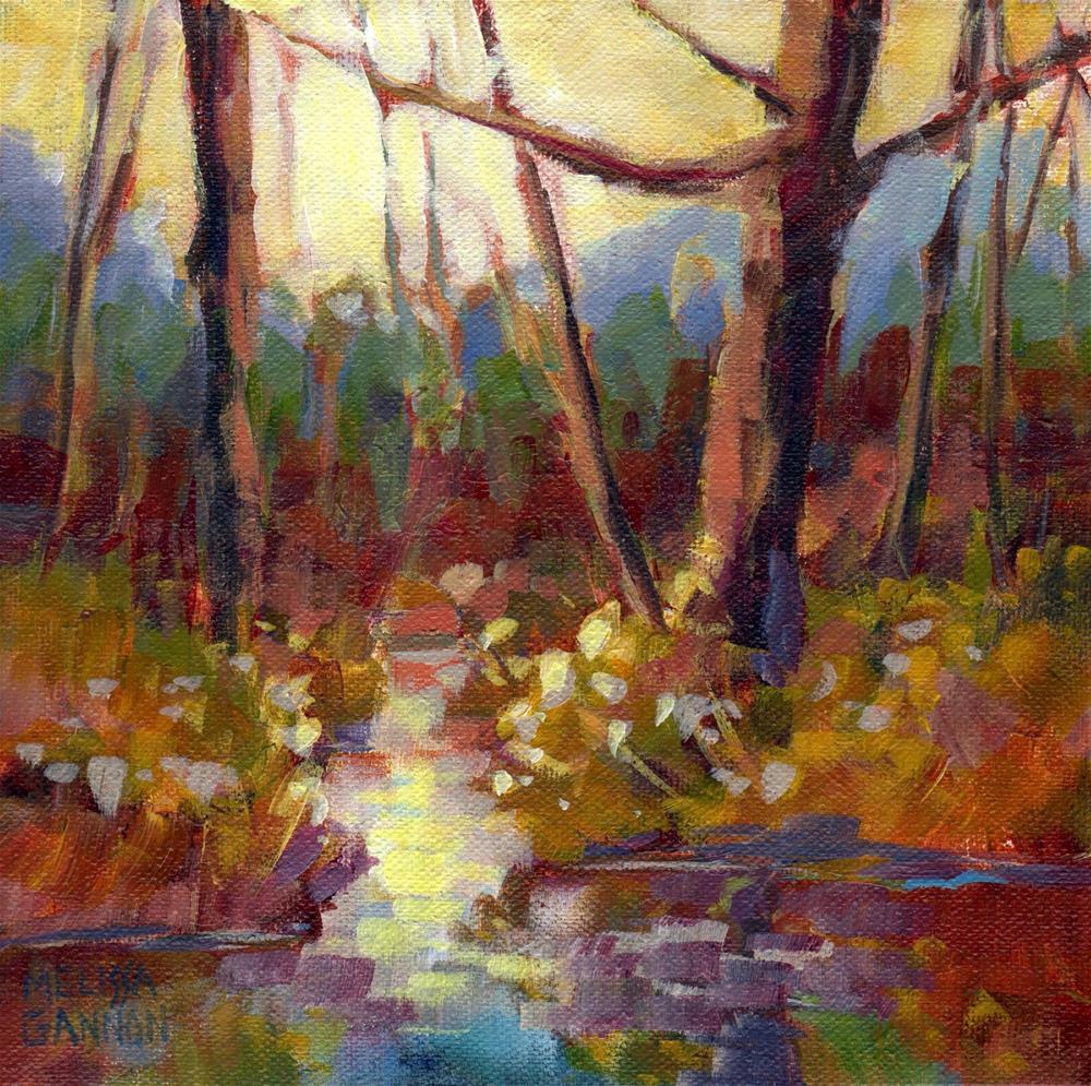 """World Along the Waterway"" original fine art by Melissa Gannon"