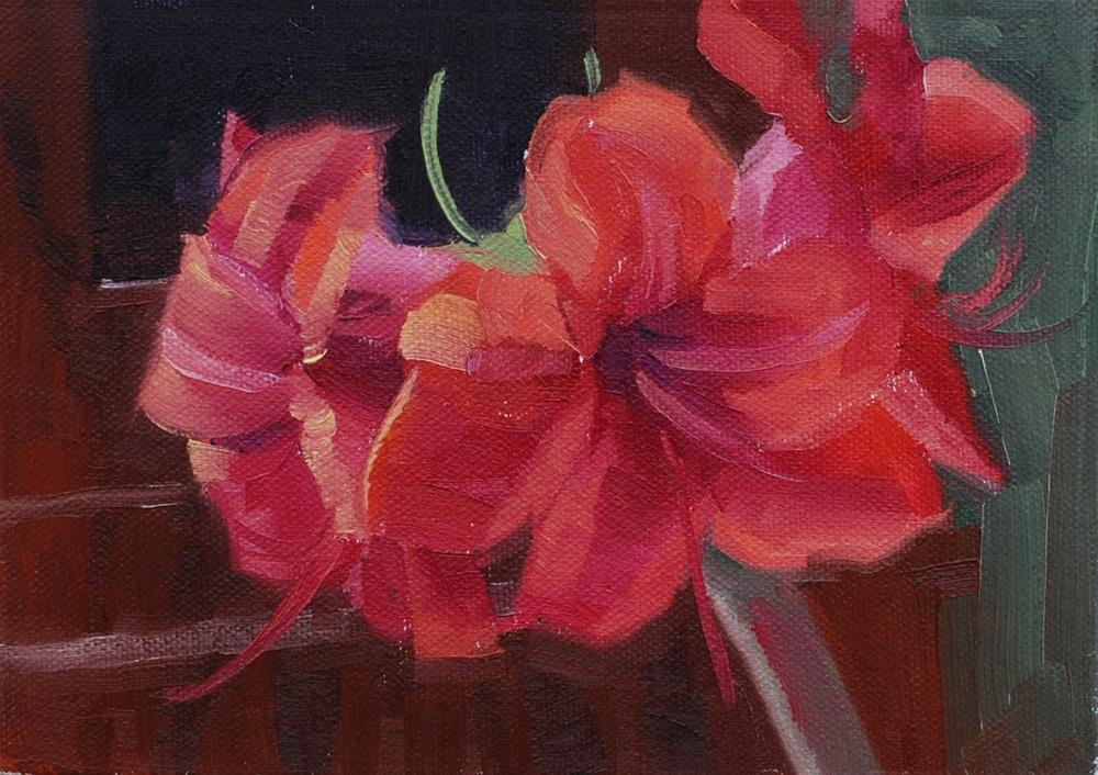 """Amaryllis - The Next Generation"" original fine art by Susan McManamen"