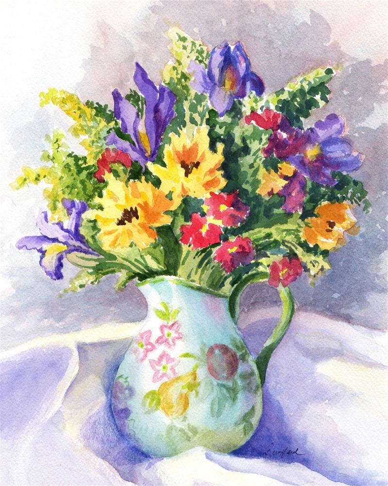 """Sunny Bouquet - January Studio Sale"" original fine art by Vikki Bouffard"