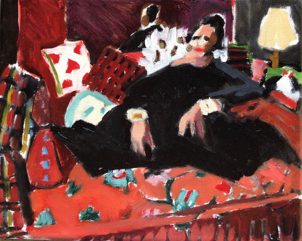 """Exaggeration?"" original fine art by Pamela Hoffmeister"