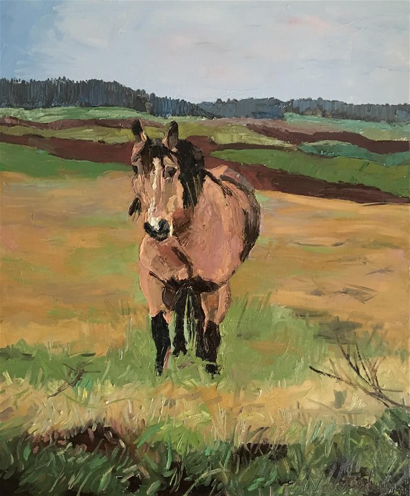 """Just a horse"" original fine art by Milda Vaitiekunaite"