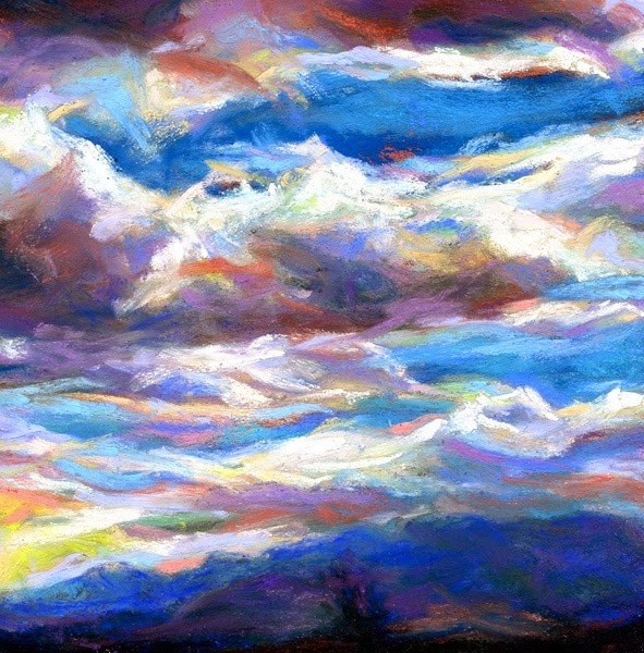"""LAYERS UPON LAYERS - 4 1/2 x 4 1/2 pastel - SOLD  / PRIVATE COLLECTOR"" original fine art by Susan Roden"