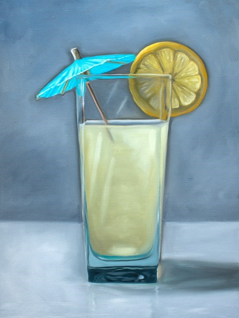 """Fresh Lemonade"" original fine art by Lauren Pretorius"