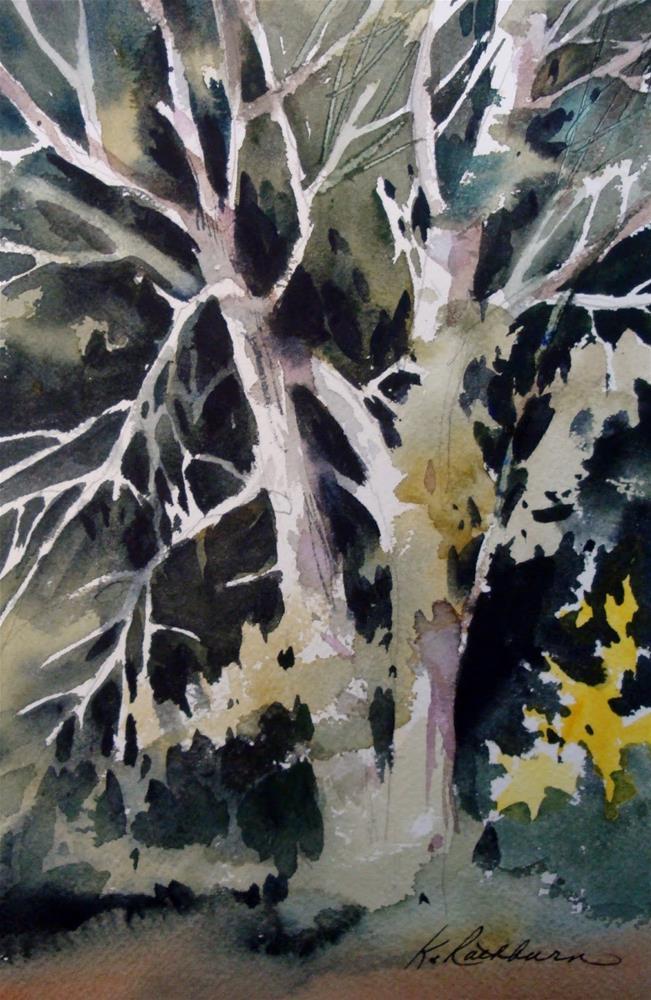 """Plein air painting at Deep River II"" original fine art by Kathy Los-Rathburn"