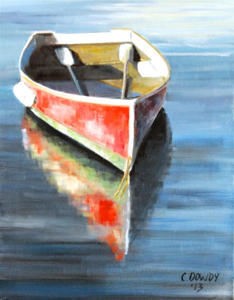 """Old Row Boat"" original fine art by Christina Dowdy"