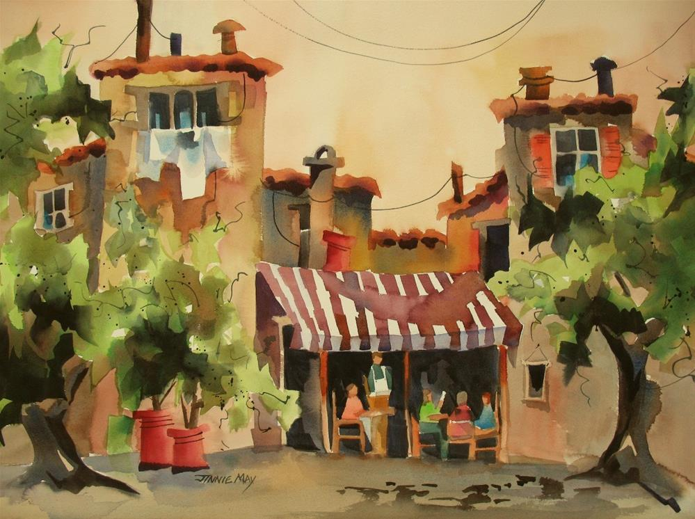 """Lunch at the Cafe"" original fine art by Jinnie May"