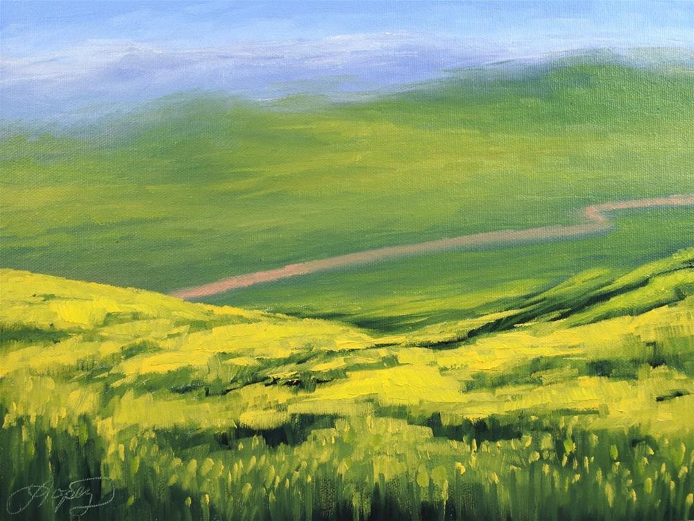 """""""22. Valley Views"""" original fine art by Gema Lopez"""