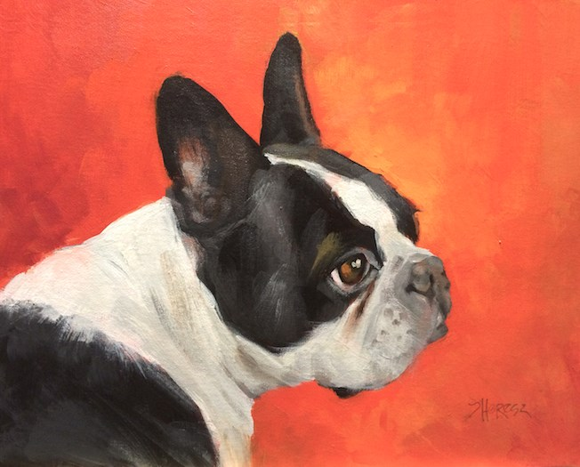 """""""Portrait of Dungee"""" original fine art by Theresa Taylor Bayer"""