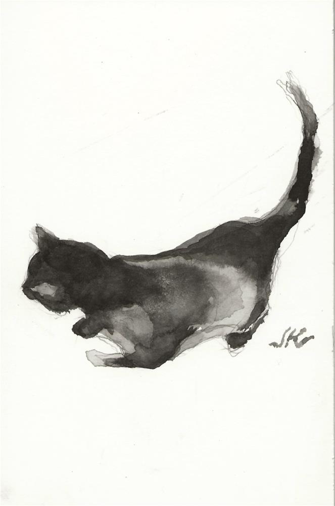 """Daily Cat 146"" original fine art by Jean Krueger"