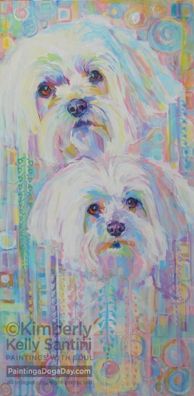 """Klimted"" original fine art by Kimberly Santini"
