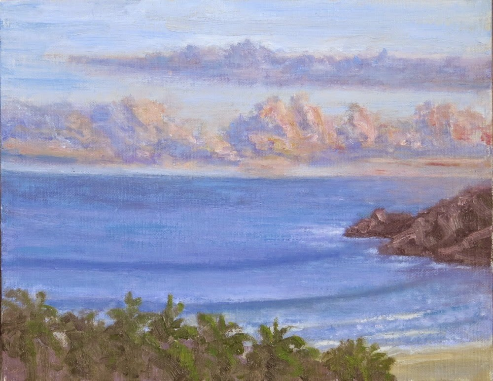 """Pacific Evening"" original fine art by Richard Kiehn"