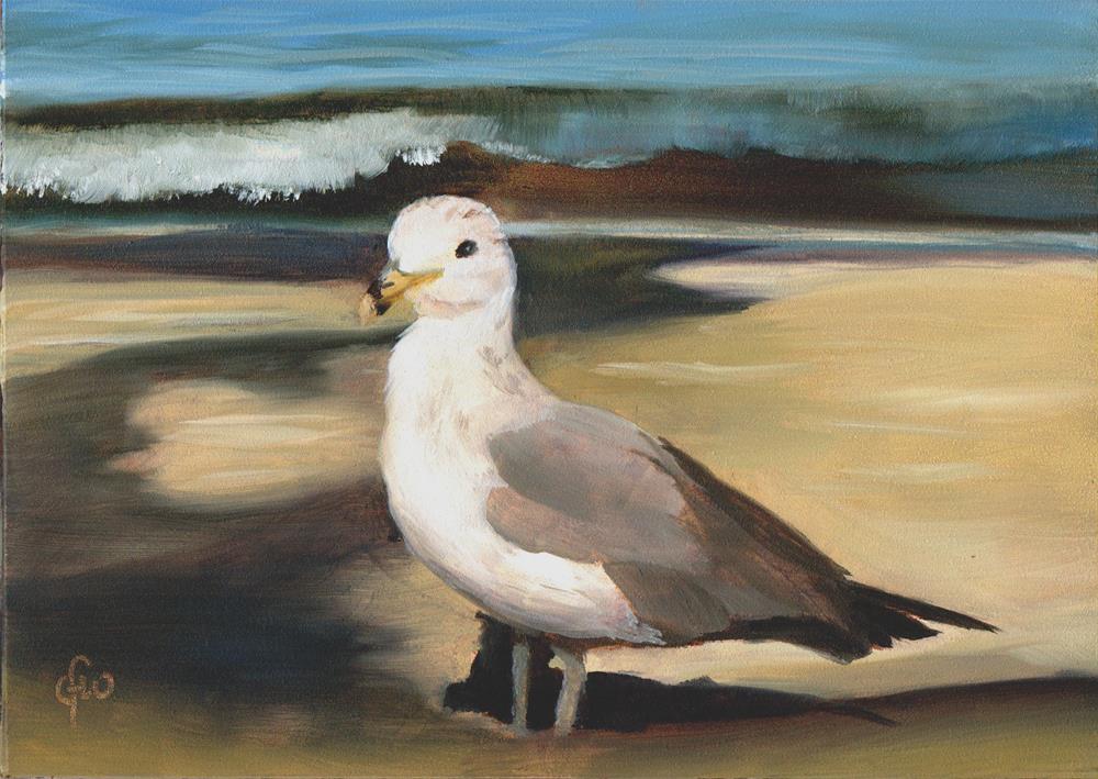 """Seagull"" original fine art by Gary Westlake"