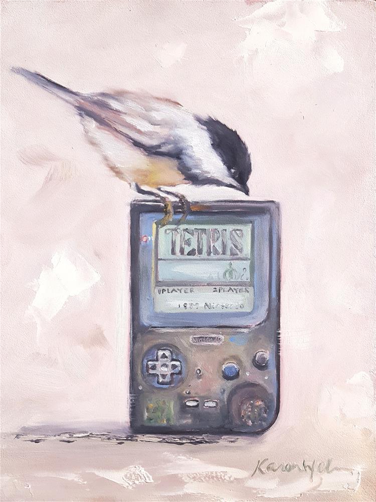 """""""The Tetris Effect"""" original fine art by Karen Weber"""
