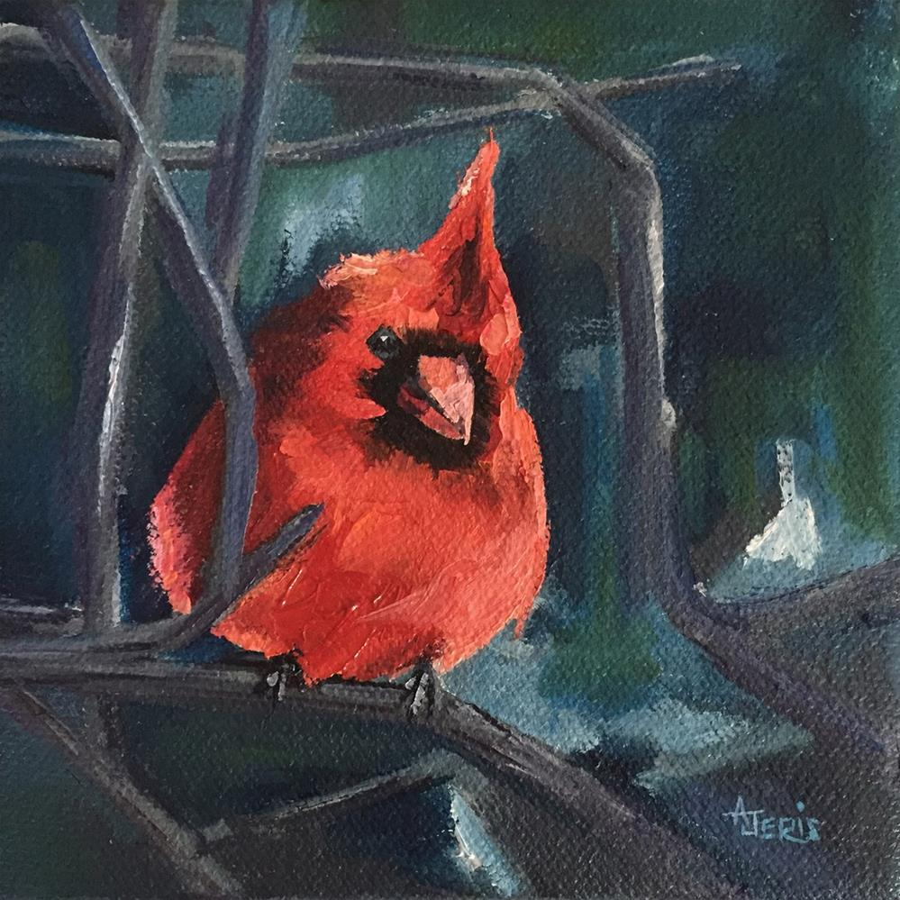 """Fluffed Out"" original fine art by Andrea Jeris"