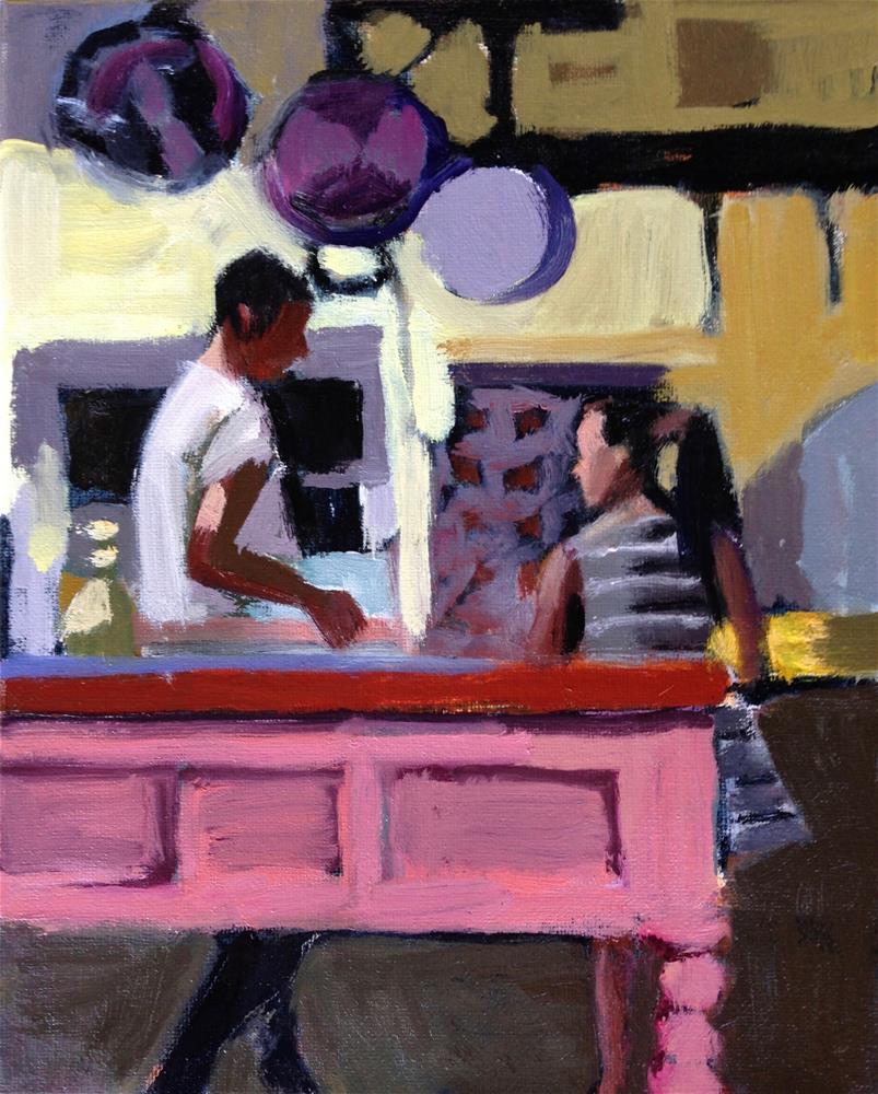 """Learning To Cook"" original fine art by Pamela Hoffmeister"