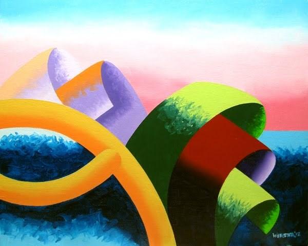 """Mark Webster - The Modern Landscape 4.0 Abstract Geometric Oil Painting"" original fine art by Mark Webster"
