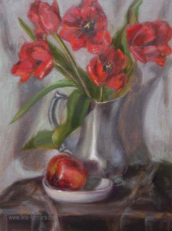 """Rouge in Midlife"" original fine art by Lina Ferrara"