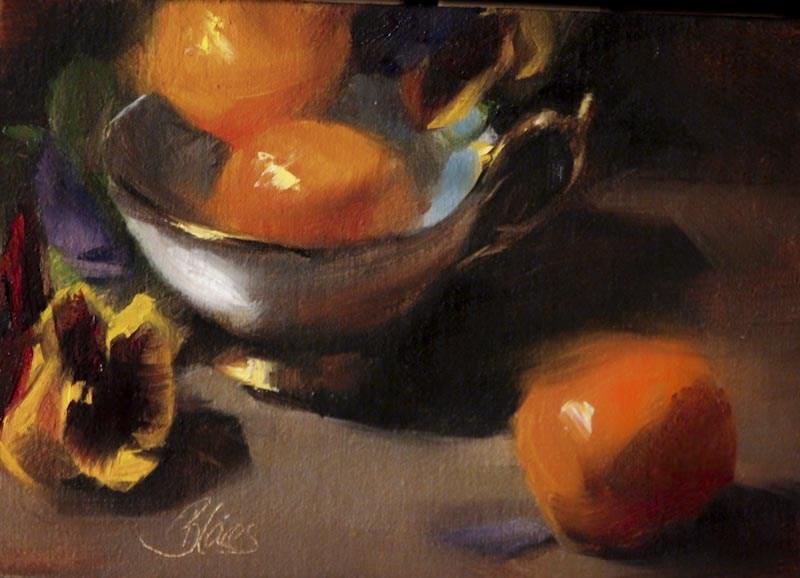 """Orange Tea"" original fine art by Pamela Blaies"