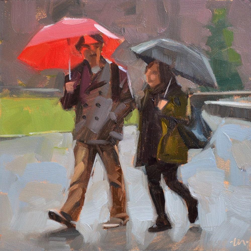 """""""Staying Dry"""" original fine art by Carol Marine"""