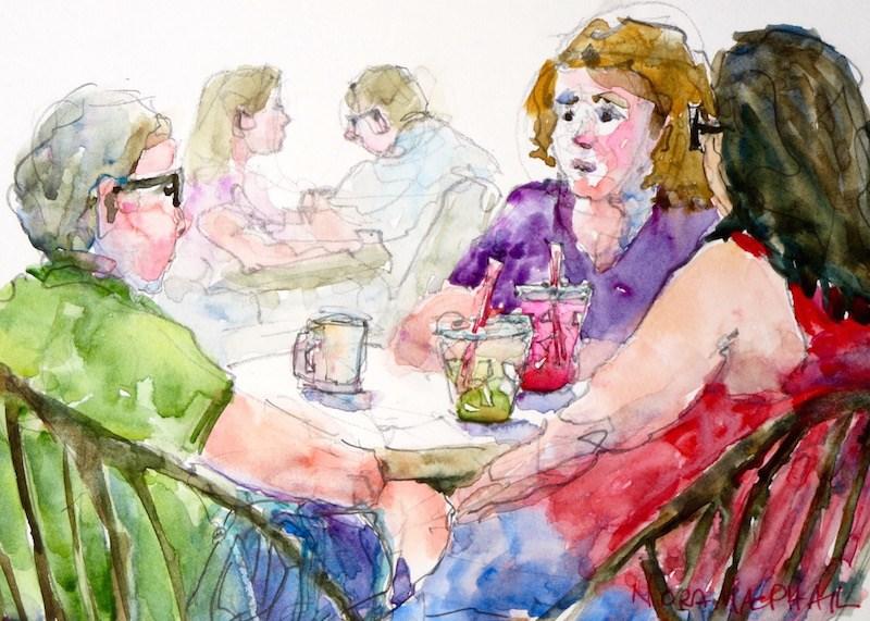"""to make a short story  longer"" original fine art by Nora MacPhail"
