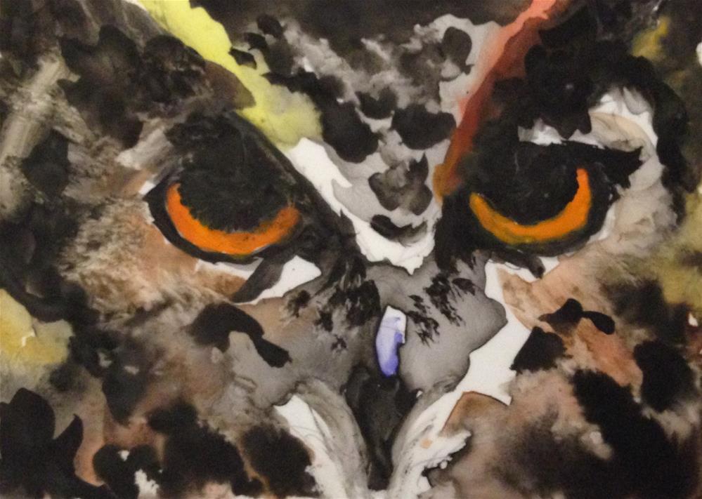 """Tell Me Owl About It"" original fine art by Debbie Yacenda"