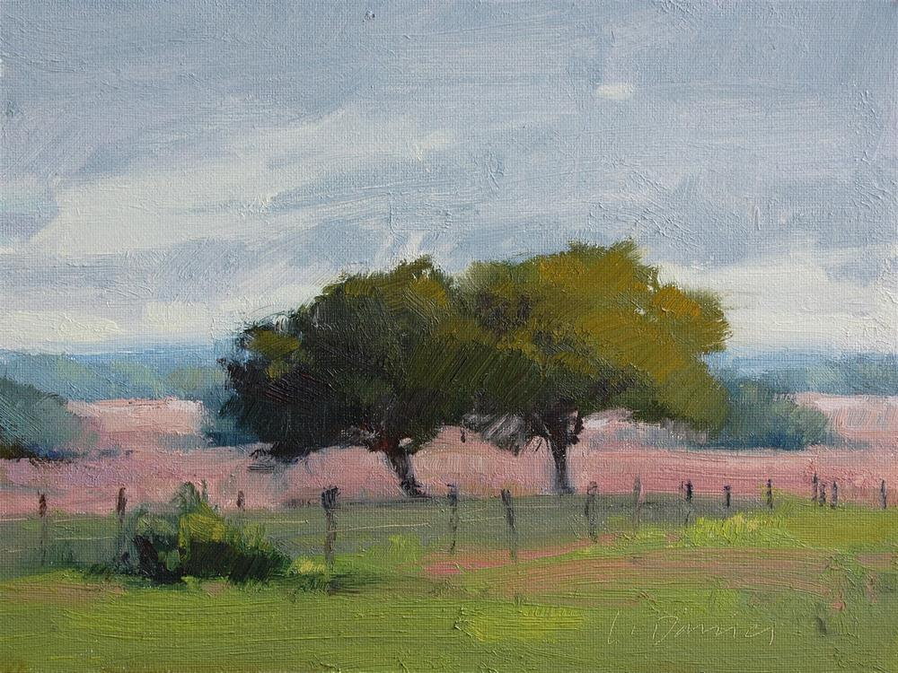 """""""Hill Country Morning and 3 Workshop Openings!"""" original fine art by Laurel Daniel"""